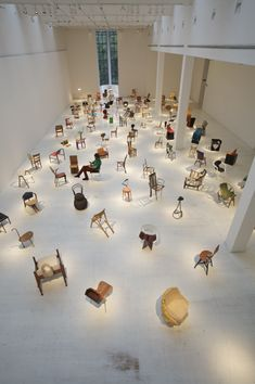 Stanze e Camere + 100 Chairs in 100 Days. I thought about having a room with nothing but chairs. This is much more awesome than anything I could have contrived in my humble home.