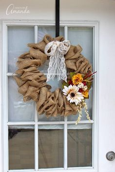 How to Make a Burlap Wreath Using a Coat Hanger