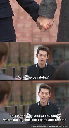When you see couples at school! XD Hahahaha forever alone cx Heirs Korean Drama, Korean Drama Funny, Korean Drama Quotes, Korean Drama Movies, Drama Korea, The Heirs, Korean Dramas, Kdrama Memes, Funny Kpop Memes