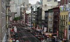 Chinatown, New York City, from the Manhattan Bridge Manhattan Bridge, Fine Art Photography, New York City, Times Square, Cities, Trips, Street View, Urban, Landscape