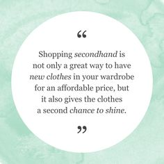 thredUP is the world's largest online thrift store where you can buy and sell high-quality secondhand clothes. Fast Fashion, Slow Fashion, Ethical Fashion, Green Living Tips, Love The Earth, Shopping Quotes, Eco Friendly Fashion, Thrift Fashion, Shops