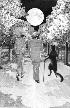 Andrey Nabokov made a series of illustrations for the novel 'The Master and Margarita' by Mikhail Bulgakov (images). Illustrations, Illustration Art, The Master And Margarita, Russian Literature, Russian Culture, Chef D Oeuvre, Cat Art, Les Oeuvres, Storytelling
