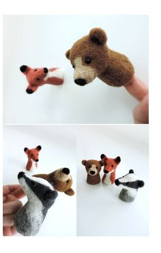 Felted finger puppets! Wow