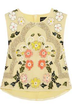 NEEDLE & THREAD Locket Embellished Chiffon Top. #needlethread #cloth #top