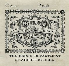 [Bookplate of the Carnegie Library Pittsburgh]