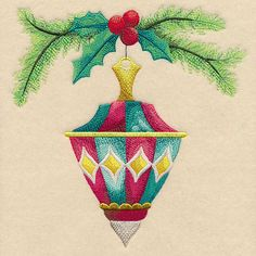 Antique Adornments Ornament 6 design (L6161) from www.Emblibrary.com