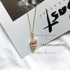 Gold Color Alloy Cowrie Shell Necklace for Women - Love's Jewelry Cowrie Shell Necklace, Starfish Necklace, Shell Necklaces, Pendant Necklace, Summer Necklace, Summer Jewelry, Beach Jewelry, Necklace Types, Collar Necklace
