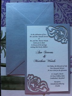 Floral  Classic Wedding Invitation by CelineDesigns on Etsy