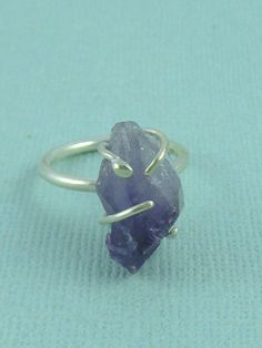Sterling Silver and Amethyst Ring. Sterling Silver Ring by ZaZing