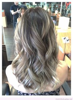 Ombre ash brown with balayage ash blonde