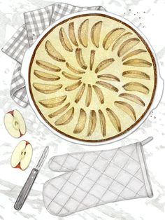 Tarte Maman Blanc. Illustrated Cake Recipe by New Cakes On The Block www.newcakesontheblock.com