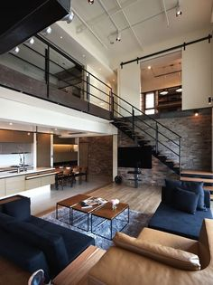 Love this studio home. PMK Designers Create Lai Home in Taiwan (15) Loft, ideas, home, house, apartment, decor, decoration, indoor, interior, modern, room, studio.