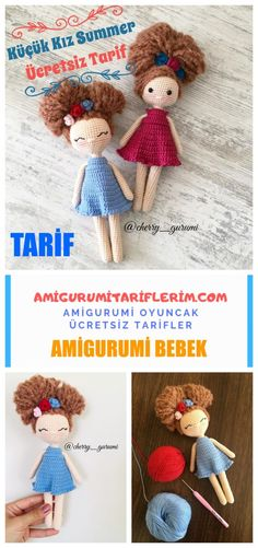 Amigurumi doll summer girl is waiting for you in amigurumi crochet toy free pattern. Everything you are looking for amigurumi on this site. Crochet Girls, Cute Crochet, Crochet Toys, Crochet Baby, Doll Amigurumi Free Pattern, Amigurumi Doll, Crochet Doll Tutorial, Doll Patterns, Diy