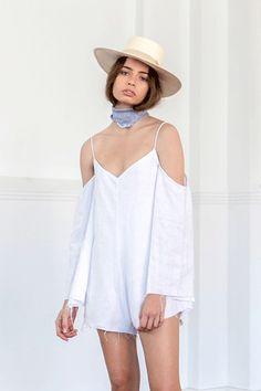 Esmée Playsuit White