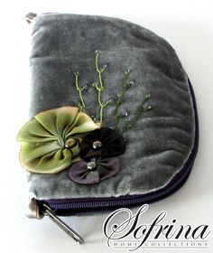 Handmade Jewelry Case  Slate Grey with Mint Interior