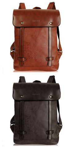 Retro Locomotive Artificial Leather Backpack School Bag. Bőr HátizsákUtazó  ... 21c0f249d3