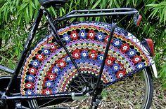 Crocheted Skirt Guards pattern