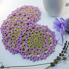 Ravelry: LyubavaCrochet's Lavender Coasters