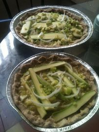 Pizza a la mexicana verde en HazteVegetariano.com