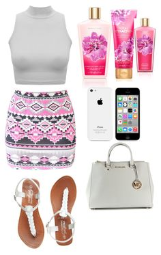 """""""Untitled #57"""" by flawless-diamonds ❤ liked on Polyvore featuring Boohoo and MICHAEL Michael Kors"""
