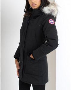 Canada Goose Black Trillium Parka Coat Summer Is Coming, Belstaff, Parka Coat, Barbour, Coats For Women, Canada Goose Jackets, Looks Great, Winter Jackets, Clothes