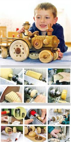 Wooden Toy Tractor Plans - Wooden Toy Plans and Projects | WoodArchivist.com