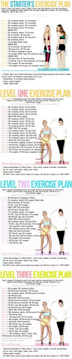 Free exercise plans based off your fitness level.. beginner please!