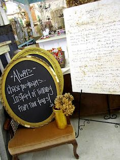 We have SO many vintage frames with chalkboards in them...they would make the perfect gift or addition to any home!