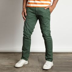 Boss Chino Trouser Men's Green, $39, now featured on Fab.