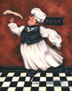Pizza Chef Painting by Vickie Wade - Pizza Chef Fine Art Prints and Posters for Sale You are in the right place about Pizza ricetta impasto Here we offer you the most beautiful pictures about the Pizz Chef Pictures, Fat Chef Kitchen Decor, Pizza Chef, Foto Transfer, Retro Poster, Le Chef, Sale Poster, Kitchen Wall Art, Chefs
