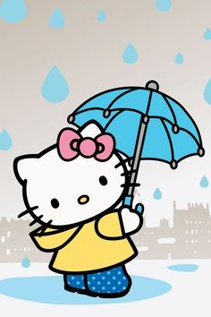 Second Hello Kitty Wallpaper after dawn! Sanrio Hello Kitty, Hello Kitty Backgrounds, Hello Kitty Wallpaper, Images Hello Kitty, Hello Kitty Imagenes, Hello Kitty Coloring, Raincoat Outfit, Illustration, Cat Quotes