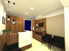 Projeto para recepção de clínica odontológica em Araranguá, SC. #vanessacravoarquitetura #clinica #odonto #interiores #arquitetura #interiordesign #arquiteta #projeto #design