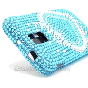 Blue Heart Diamond Bling Hard Case Cover for the Samsung Galaxy S2(Hercules) $10.95 > 10% coupon code: Pinit