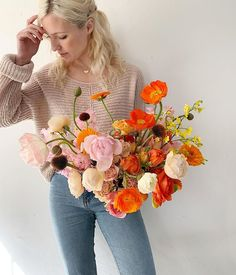 Shade Garden Flowers And Decor Ideas For Amalia, Who Wore An Orange Dress And Ill Never Forget It Floral Bouquets, Wedding Bouquets, Floral Wreath, Dried Flower Bouquet, Dried Flowers, Floral Wedding, Wedding Flowers, Pre Wedding Party, Flower Installation