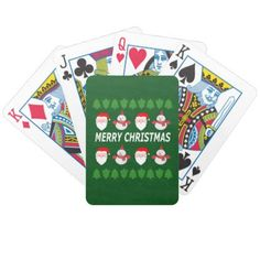 merry christmas bicycle playing cards - home gifts ideas decor special unique custom individual customized individualized