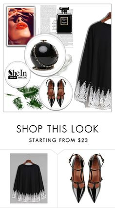 """""""shein"""" by youaremywish ❤ liked on Polyvore featuring RED Valentino"""