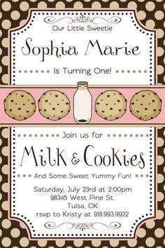 Milk & Cookies Party Invitation