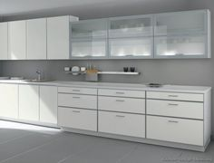 white aluminum kitchen cabinets   Pictures of Kitchens - Modern ...
