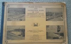 Navigation Flood Control Maps Charts Mississippi River 1956 IL to Gulf Mexico #USArmyCorpsofEngineers