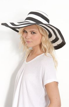 love a striped floppy hat