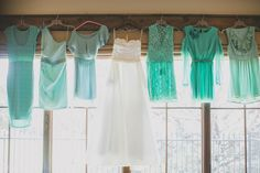 Different textures and styles for the bridal party: Taylor Lord Photography