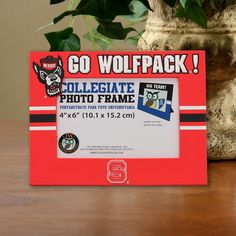 "North Carolina State Wolfpack 4"" x 6"" PVC Photo Frame - Red - $19.99"