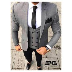 Clothing Type: Men's Suits Suits Type: Wedding Suit, Suit, Plus Size Suit Pant Closure Type: Zipper Fly Closure Type: Double Breasted Vest Sty. Terno Slim Fit, Prom Blazers, Blazers For Men, Plus Size Suits, Style Masculin, Look Man, Herren Outfit, Mens Fashion Suits, Fashion Night
