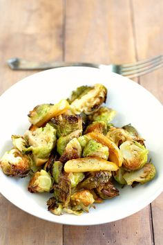 Delicious and hearty roasted brussels sprouts and apples. A simple ...