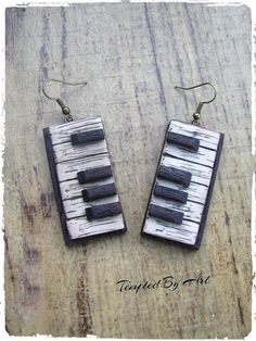 Feel the music earrings-Tempted By Art by TemptedByArt on Etsy