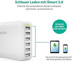 USB Ladegerät RAVPower 6-Port 60W: Amazon.de: Elektronik Bluetooth, Ipad, Iphone, Electronics, Technology, Electrical Outlets, Voyage, Consumer Electronics