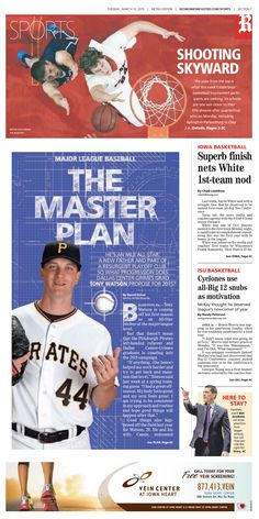 News design: March 10 Des Moines sports cover.