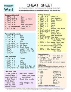 Simple CV templates - Drawing Archives✔ Simple CV templates MS Word Cheat Sheet Shortcut Typing Tips Word Shortcut Keys, Computer Shortcut Keys, Computer Basics, Computer Help, Computer Tips, Computer Programming, Computer Skills Resume, Computer Keyboard, Keyboard Symbols