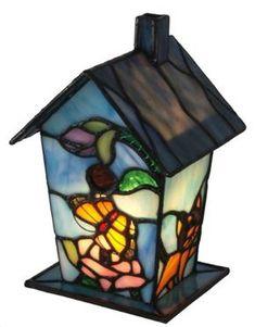 River of Goods 12751 7.75-Inch H Butterfly Blossoms Stained Glass Bird House Accent Lamp River of Goods http://www.amazon.com/dp/B00HYLK9FO/ref=cm_sw_r_pi_dp_kGX7ub1F115C0