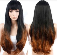Cheap Synthetic Wigs long Gradient color remy wigs middle parting for sale Cheap Lace Front Wigs, Cheap Wigs, Remy Wigs, How To Wear A Wig, Wigs Online, Wigs For Sale, Blonde Wig, Womens Wigs, Curly Wigs